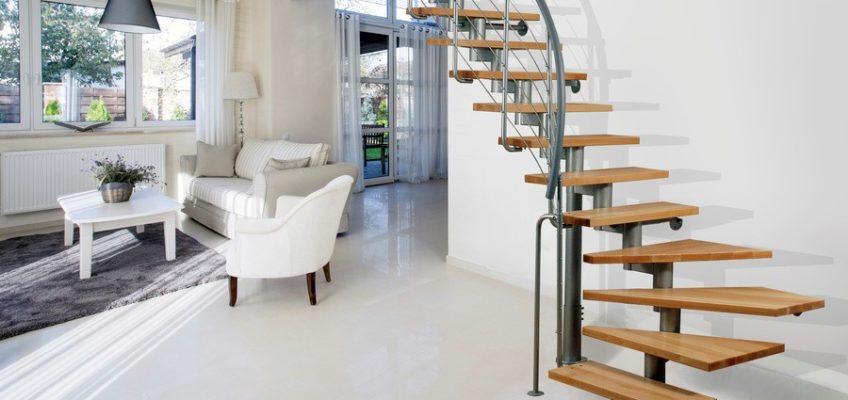 μοντέρνες εσωτερικές σκάλες
